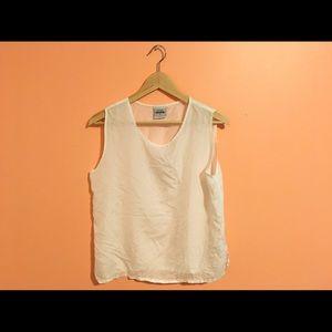 Vintage sheer silk sleeveless blouse